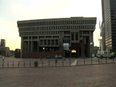 Boston - City Hall 2 Stock Footage