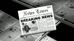 Stock Video Footage of Newsflash