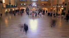 Grand Central Station Clock New York HD Stock Footage