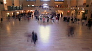 Stock Video Footage of Grand Central Station Clock New York HD