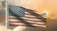 Aged American flag Stock Footage