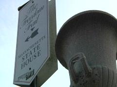 Boston - Massachusetts State House 3 Stock Footage
