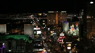 Las Vegas Strip at Night Stock Footage