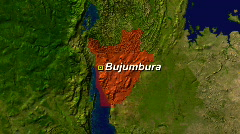 Zooming into Burundi Stock Footage