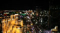 Planet Hollywood and Las Vegas strip at Night Footage