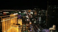 Stock Video Footage of Planet Hollywood and Las Vegas strip at Night