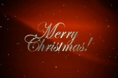 Merry Christmas with Santa NTSC Red - stock footage