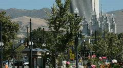 Salt Lake City downtown P HD 3458 Stock Footage
