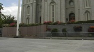 Salt lake city mormon temple square Stock Footage