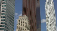 Downtown skyscrapers. Timelapse. Stock Footage