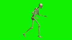 Sneaking Skeleton Stock Footage