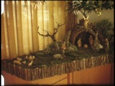 Christmas crib at home (vintage 8 mm amateur film) Stock Footage