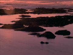 Black Rocks Gold Tide 640x480 Stock Footage