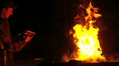 Slow motion fire - stock footage