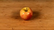 Apple being sliced Stock Footage