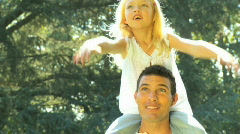 Father & Daughter Stock Footage