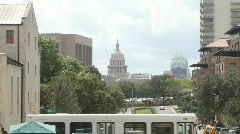 Austin, Texas Capital and Frost Bank Tower Stock Footage