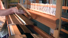 Weaving loom Stock Footage