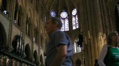Notredam inside3 Stock Footage