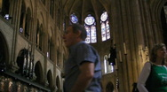 Notredam inside3 Stock Footage