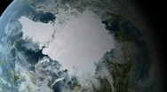 Orbiting over North Pole HD Stock Footage