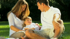 Family Outdoor Lifestyle - stock footage