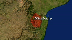 Zooming into Swaziland Stock Footage