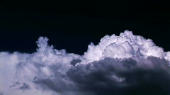 Storm Clouds Blowing Through Sky Toned Purple - Thunderheads Time Lapse Stock Footage