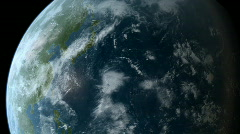 Orbiting over Asia HD - stock footage