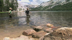 Boys in a Mountain Lake Stock Footage