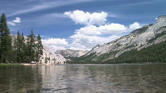 Tenaya Lake in Yosemite National Park, alpine mountain lake Stock Footage