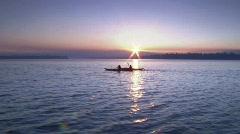 Sunrise Lake Kayak 6 23.98 Stock Footage