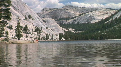 Alpine Tenaya Lake in Yosemite National Park - Mountain Lake Stock Footage