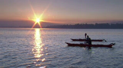 Sunrise Lake Kayak 8 23.98 Stock Footage