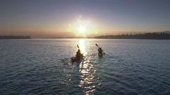 Sunrise Lake Kayak 13 23.98 - stock footage