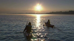 Sunrise Lake Kayak 16 23.98 Stock Footage