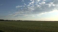 Pasture Sunrise - Pan Stock Footage