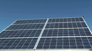 Stock Video Footage of Solar Panels Blue Sky