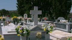 Cemetery of Pitsidia on Crete Stock Footage