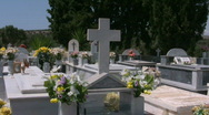 Cemetery of Pitsidia on Crete Stock Footage