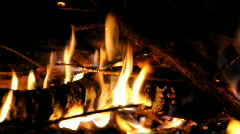 Campfire Stock Footage
