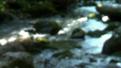 Out of focus stream 1 Stock Footage