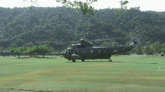 Borneo 17 military helicopter Stock Footage