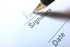 signature writing - stock footage