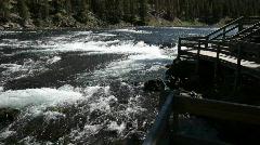 Yellowstone River pan P HD 2636 - stock footage