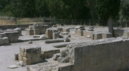 The ruins of Gortys on Crete Stock Footage