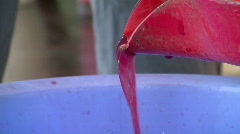Wine squeeze 4 Stock Footage