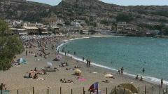 Mediterranean beach on Crete Stock Footage