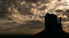 Monument Valley 05 Timelapse Sunrise x7 / Grand Circle, Arizona-Utah, USA Stock Footage