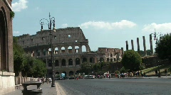 Traffic in Rome Stock Footage